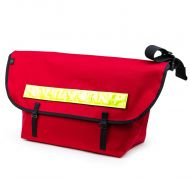 *BLUE LUG* the messenger bag (red/reflector)