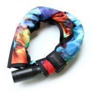 *BLUE LUG* compact wire lock (tiedye)