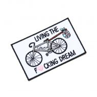 *CRUST BIKES* living the dream patch