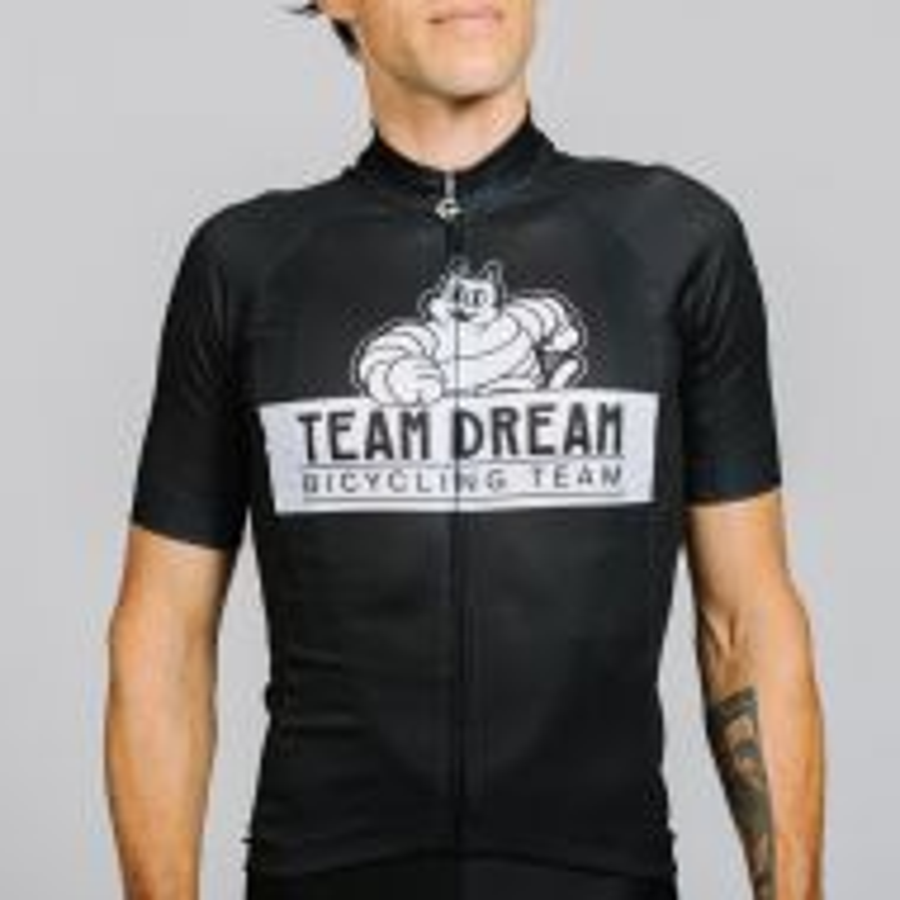 *TEAM DREAM* meowchelin cat jersey (black)