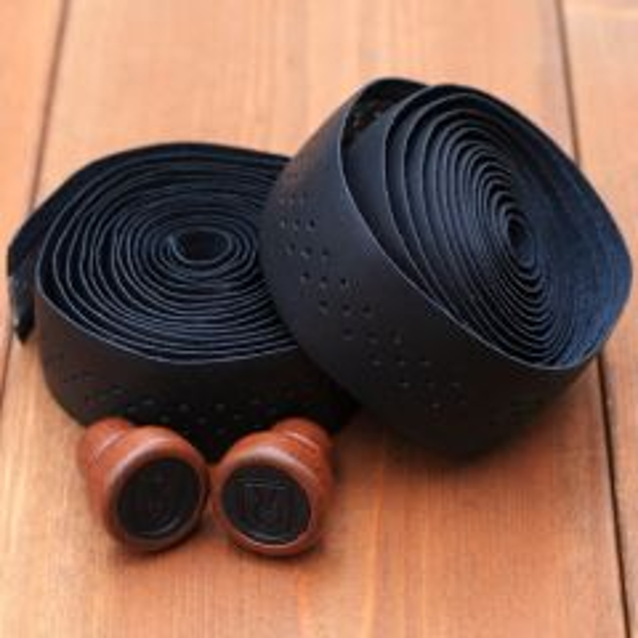 *VELO ORANGE* grand cru leather bartape (black)