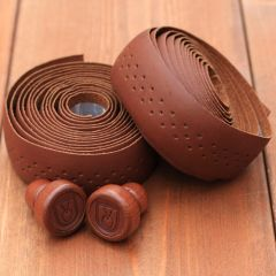 *VELO ORANGE* grand cru leather bartape (brown)
