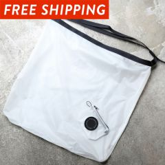 *FAIRWEATHER* packable sacoche  (white)