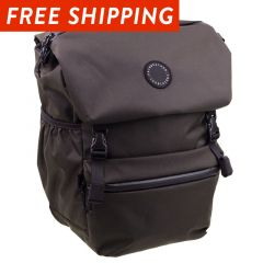 *FAIRWEATHER* flaptop pannier (brown)