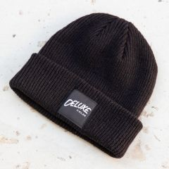 *DELUXE CYCLES* merino wool beanie (black)