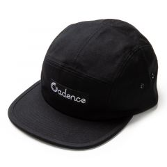 *CADENCE* finn 5 panel hat (black)