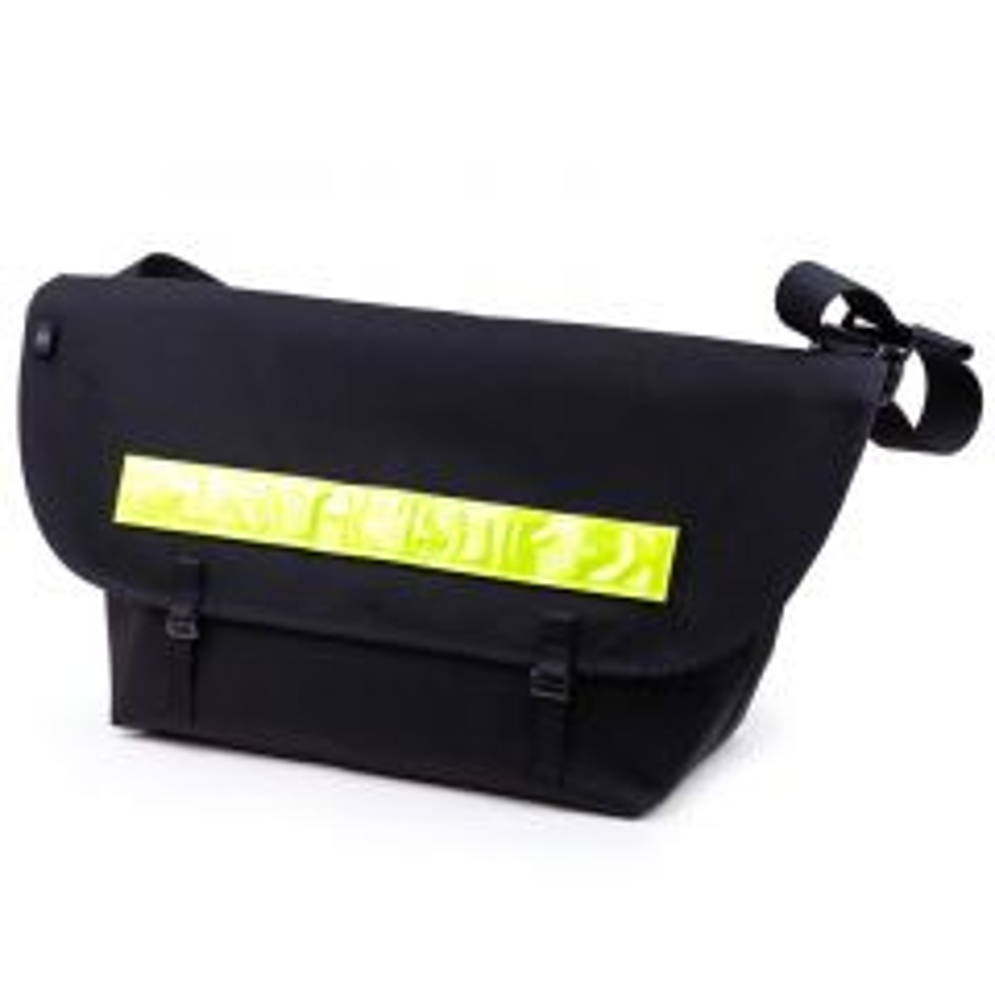 *BLUE LUG* the messenger bag (black/reflector)