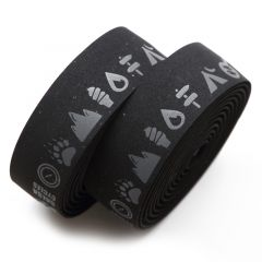 *SALSA* glyph gel cork bar tape (black)
