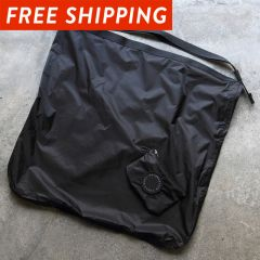 *FAIRWEATHER* packable sacoche  (black)