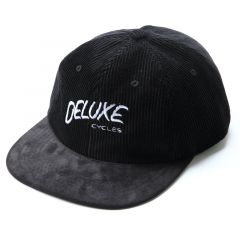*DELUXE CYCLES* casual hand Corduroy 6 panel cap (black)