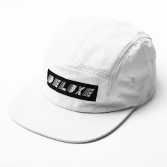 *DELUXE CYCLES* deco 5panel cap (white)
