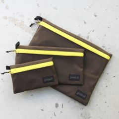 *BLUE LUG* dry pouch (brown/yellow)