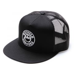 *BICYCLE COFFEE* logo mesh cap (black)