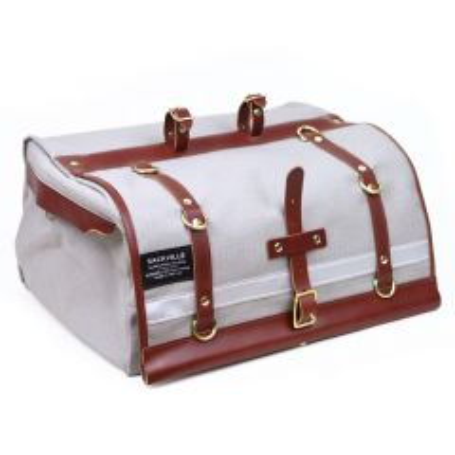 *RIVENDELL* sackville baggabond saddle bag (light grey grid)