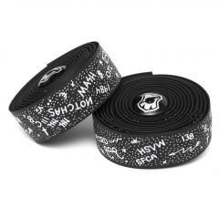 *MASH* chas bar tape + end plug set (black)