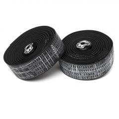 *MASH* city map bar tape + end plug set (black)