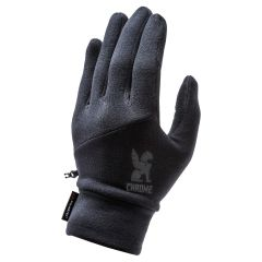 *CHROME* power strech glove (black)