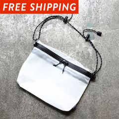 *FAIRWEATHER* zip sacoche (white)