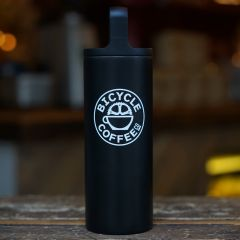 *BICYCLE COFFEE* wide mouth 16oz (black)