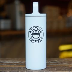 *BICYCLE COFFEE* wide mouth 16oz (white)