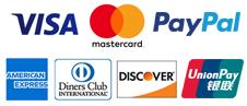 Visa, Master Card, Pay Pal, American Express
